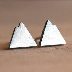 silver mountain earrings