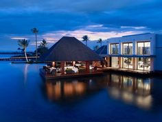 Would love to relax here! :D  credit to Four Seasons Resort Mauritius and yahoo Travel!