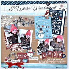 Hello winter - My Creative Scrapbook's creative kit 2018