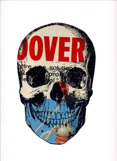 """Saatchi Online Artist: tyrone dalby; Paper, 2012, Assemblage / Collage """"OVER"""""""