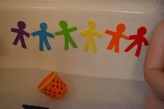 Handmade bath toys from craft foam