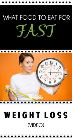 What Food To Eat For FAST Weight Loss (video)