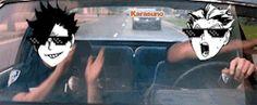 #Haikyuu gif - Kuroo and Bokuto xD