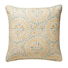 A yellow tulip print cushion cover. This pretty linen cushion cover has been crafted by hand and is decorated with yellow flowers. Printed Cushions, Scatter Cushions, Throw Pillows, Luxury Cushions, Velvet Cushions, Cushion Pads, Cushion Covers, Yellow Tulips, Velvet Color