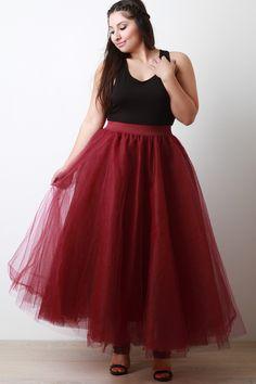 Fluffy Tulle Maxi Skirt