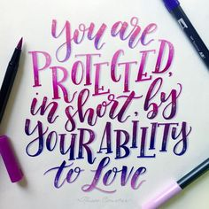 "Harry Potter ""You are protected, in short, by your ability to love"" Calligraphy Lettering by Calligraphy Qoutes, Calligraphy Letters, Modern Calligraphy, Harry Potter Journal, Harry Potter Quotes, Harry Potter Drawings, Bullet Journal Inspiration, Journal Ideas, Kawaii"
