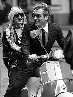 Jude Law ride Vespa