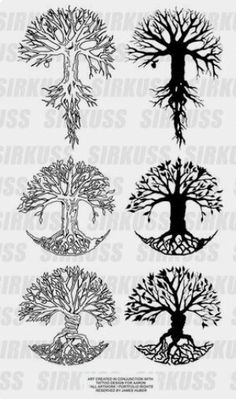 Six different tree of life