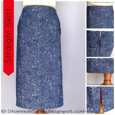 Sew a straight skirt without a pattern
