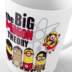 style3 Big Minion Theory Motivtasse sheldon bang bazinga bbt tbbt minions howard rajesh tasse: Amazon.de: Küche & Haushalt