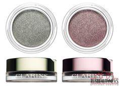 Clarins Instant Glow Spring 2016 - cream shadows in 06 SIlver Green, 07 SIlver Plum