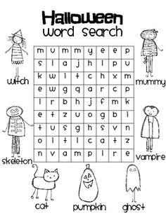 FREEBIE: Halloween word search