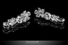 JACQUINE CLUSTER LINEAR CHANDELIER EARRINGS | 8 Carat | Cubic Zirconia