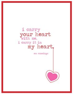 Valentine Printable  I Carry Your Heart by BooAndLouDesign on Etsy, $5.00