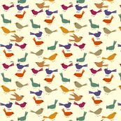 Birdies Galore by Cabin Press Studio on Spoonflower.