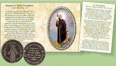 Pocket Token - St Peregrine Patron Saint of Cancer & Healing Special Words, Catholic Gifts, Inexpensive Gift, Patron Saints, Booklet, Saint Peregrine, Cancer
