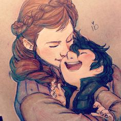 """Star Wars Leia and Ben - """"Mommy missed you """" I like to imagine Leia coming home from meetings and just grabbing Ben and giving him smooches telling how much he missed him and him giggling over it. #leia #bensolo #familyfeels"""