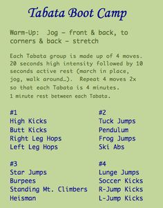 1000 Images About Tabata Workouts On Pinterest Tabata