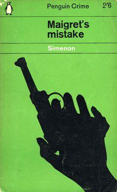 Maigret's mistake  Progetto grafico di Romek Marber.  Collana Penguin Crime, n. 1222.