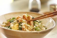 Easy dinner recipe idea. Macadamias give traditional fried rice a special touch.