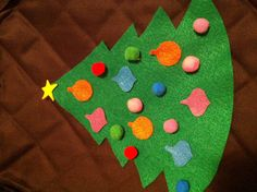 Easy, fun felt and pom-pom Christmas tree activity for toddlers who like to decorate and redecorate the tree.
