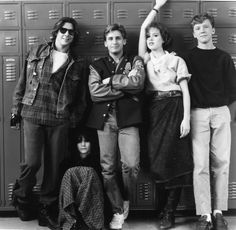 Judd Nelson, Ally Sheedy, Emilio Estevez, Molly Ringwald & Anthony Michael Hall-- the breakfast club. i admire the characters, not so much the people.