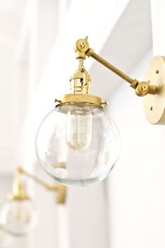MAKE this gorgeous brass globe sconce for around $70. Fabulous ...