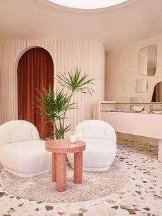 DIY terrazzo floors Commercial Design, Commercial Interiors, Terrazzo Flooring, Hotel Interiors, Furniture Sale, Home Decor Trends, Australian Homes, Take A Seat, Decor Interior Design