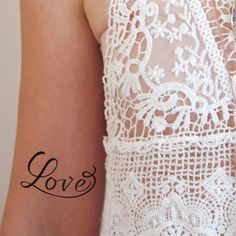Temporary Love tattoo (2 pieces)