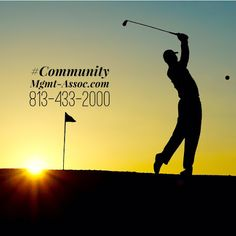 Do you enjoy golfing?  Golf more in beautiful Florida while we professionally handle all of your community association management needs. Questions? Don't hesitate to call our friendly and knowledgable staff. 813-433-2000 www.Mgmt-Assoc.com  #golfing #florida #golf #property #management