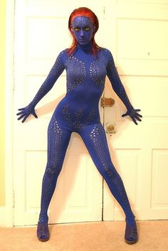 This amazing Mystique. | 24 Halloween Costumes That Will Make You Do A Double Take .. too hot