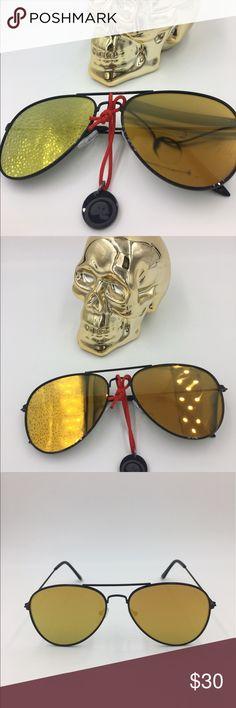 Spotted while shopping on Poshmark: gold aviator sunglasses! #poshmark #fashion #shopping #style #Ray-Ban #Other