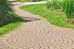 Image result for garden ideas with step stones in hexagon shape