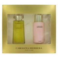 CAROLINA HERRERA by Carolina Herrera Gift Set -- 3.4 oz Eau De Parfum Spray + 6.7 oz Body Lotion by Carolina Herrera. $68.91. Gift Set -- 3.4 oz Eau De Parfum Spray + 6.7 oz Body Lotion. An exuberant, richly floral, elaborately layered scent. The essence of a woman who is tailored by day, brilliant by night. Evokes the freshness of a moment, the intrigue of a night under the stars; envelops with memorable intensity. When fantasy becomes reality. The fragrance is a sensual bl...