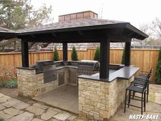 Outdoor BBQ Island. I miss my bbq. But want an island.