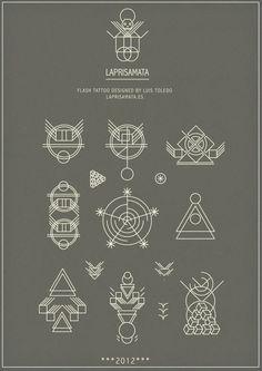 Flash Tattoo by Luis Toledo Symbole Tattoo, Geometric Compass, Geometric Symbols, Geometric Mountain, Geometric Heart, Geometric Lines, Minimal Tattoo, Future Tattoos, Skin Art