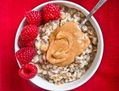 Expansive Raspberry-Almond Butter Oats
