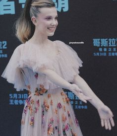 Millie Bobby Brown at the Godzilla King Of The Monsters premiere Stranger Things Aesthetic, Stranger Things Funny, Post Malone, Godzilla, Browns Fans, Bobe, Millie Bobby Brown, Best Actress, Bobbi Brown