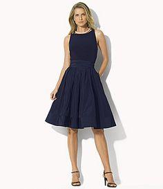 Lauren Ralph Lauren Pleated FitandFlare Dress #Dillards