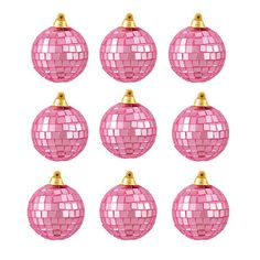 Northlight Mirrored Glass Disco Ball Christmas Ornament Color: Bubblegum Pink