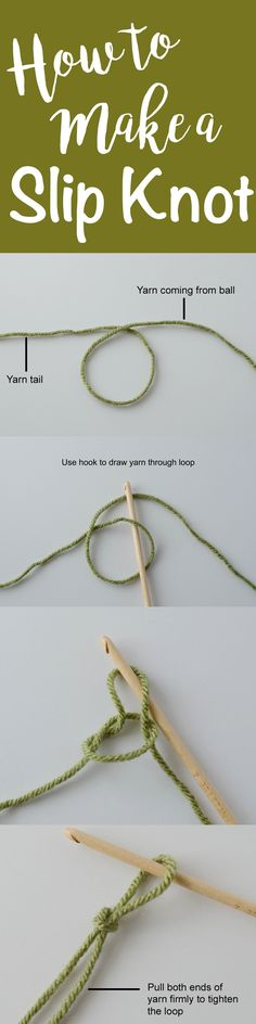 Super easy steps how to make a slip knot