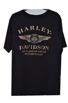 16e26f24f08f2  HarleyDavidson 110th  anniversary X Large T-Shirt Tshirt black  Genuine HD  Soft