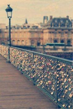 Lock of Love Bridge in Paris xx