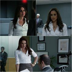 #rachel zane #whiteshirt #suits #fashion #office style