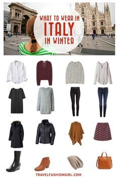 What to Wear in Italy: Packing List Update) Traveling to Italy in the Winter? Use this comprehensive packing guide to help you pack stylishly light for destinations like Milan, Rome, and Venice. Milan In Winter, Rome Winter, Italy Winter, Rome Outfits, Italy Outfits, Winter Travel Outfit, Winter Outfits, Winter Packing, Italy Packing List