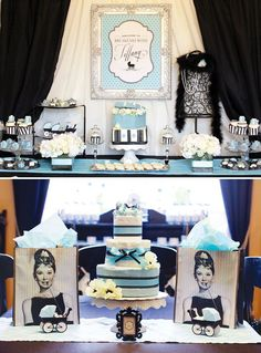 Breakfast at Tiffany's inspired baby shower