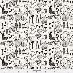 Friendly Woodland Creatures - Woodland Animals // Midnight By Buckwoodsdesignco - Woodsy Nursery Cotton Fabric By The Yard With Spoonflower Woodland Creatures, Woodland Animals, Tier Doodles, Woodsy Nursery, Animal Doodles, Spoonflower Fabric, Cotton Twill Fabric, Art Graphique, Custom Fabric