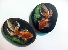 Painted Beach Rock Fish by CallThatArt on Etsy