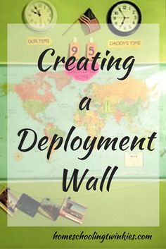 Creating a Deployment Wall: an activity for military kids and families when their loved ones are deployed. It is a great way to stay connected until homecoming day. http://www.homeschoolingtwinkies.com/2016/02/16/creating-a-deployment-wall/