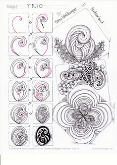 zentangle pattern trio by zenjoy - Tangle TRIO